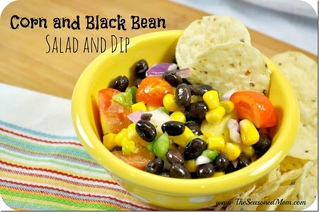 Corn and Black Bean Salad and Dip