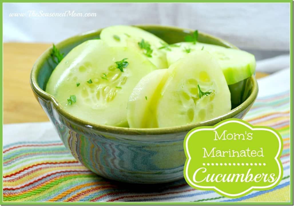 Mom's Marinated Cucumbers