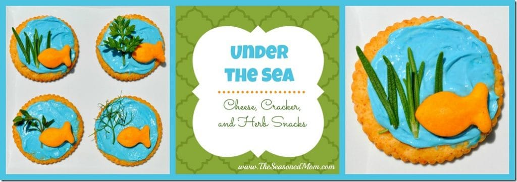 """Under the Sea"" Cheese, Cracker, and Herb Snacks"