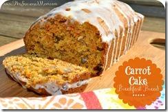Carrot Cake Breakfast Bread with Cream Cheese Glaze