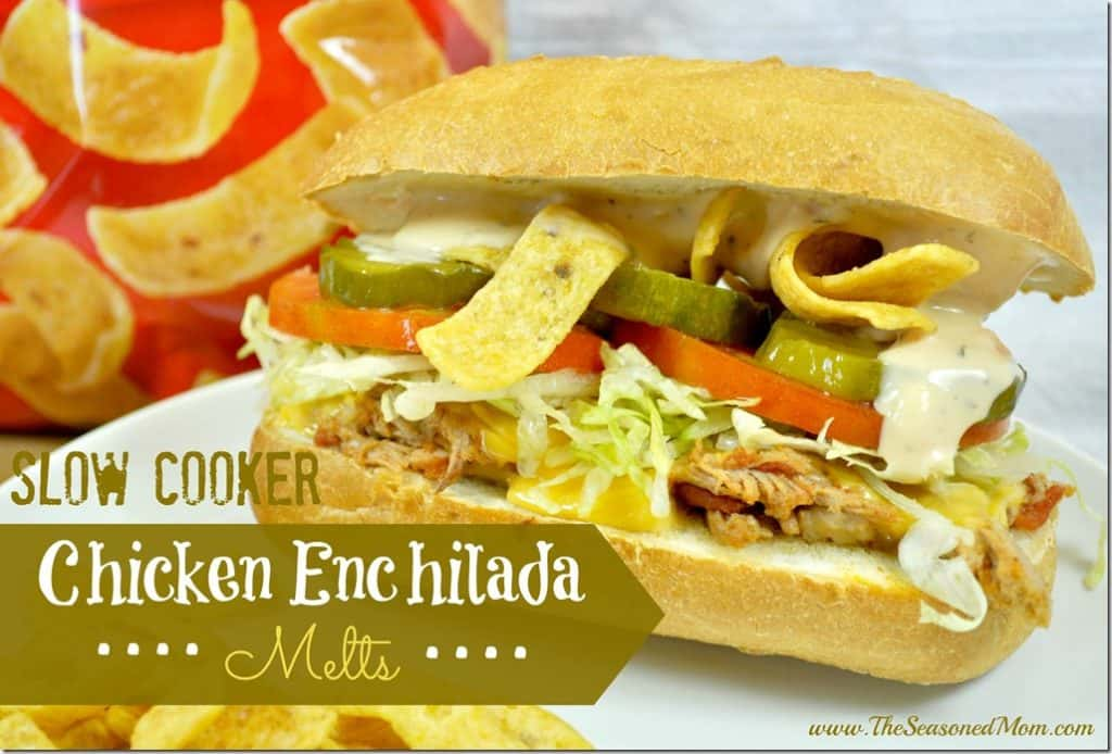 Slow Cooker Chicken Enchilada Melts