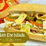 Slow Cooker Chicken Enchilada Melts