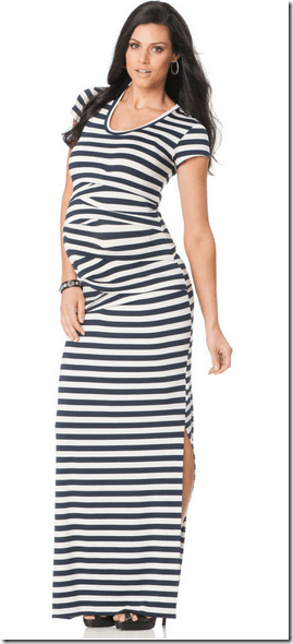 Nicole Miller Pleated Maternity Dress