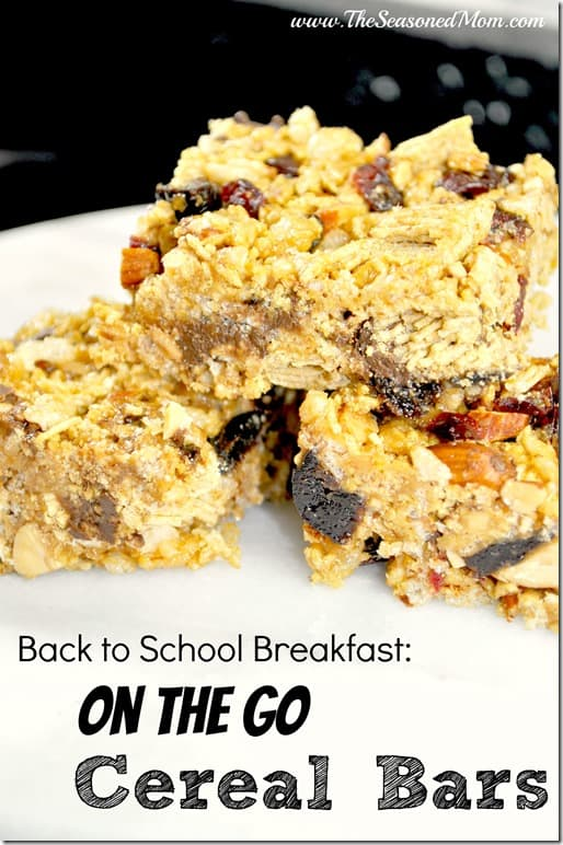 Back to School Breakfast: On the Go Cereal Bars - The Seasoned Mom