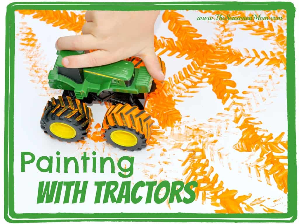Other arts and crafts the seasoned mom for Tractor art projects