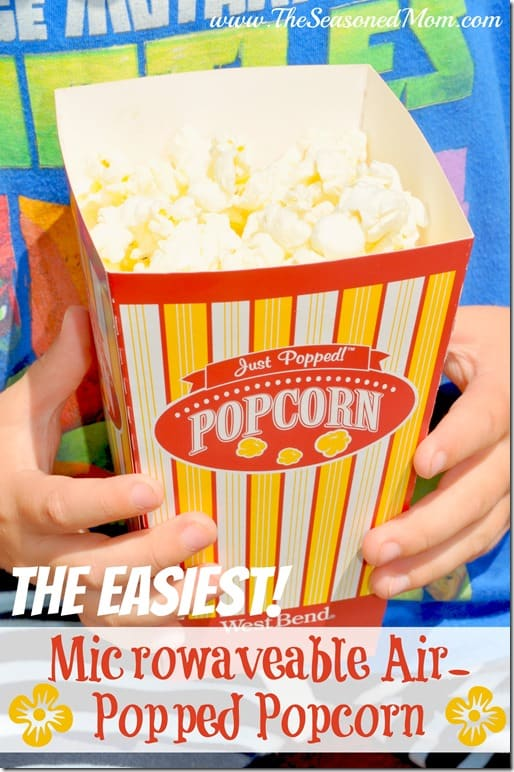 The Easiest Microwaveable Air-Popped Popcorn
