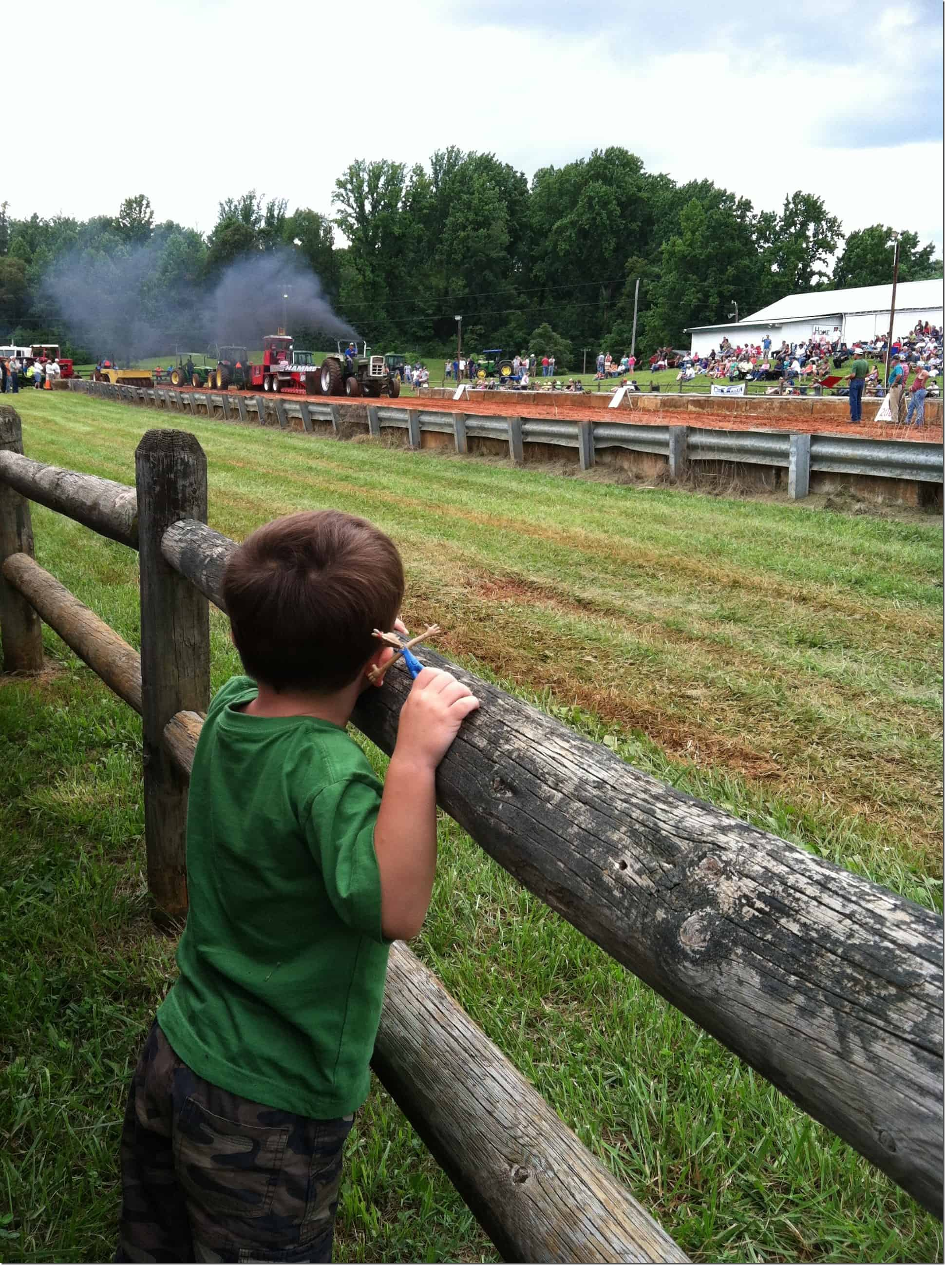 Tractor Pull Gibbs on Fence 2