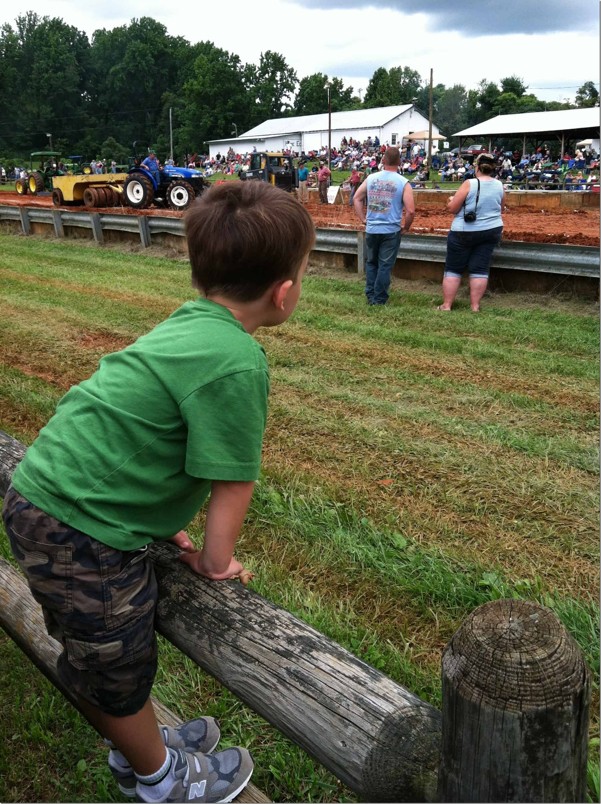 Tractor Pull Gibbs on Fence