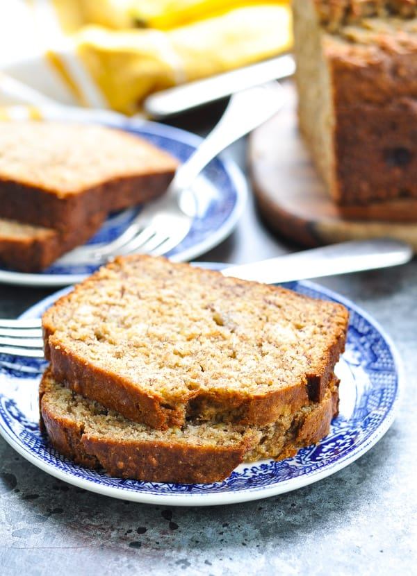 A kid friendly snack, this healthy low calorie Whole Wheat Banana Bread is always a hit!