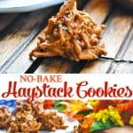 Long collage of haystack cookies