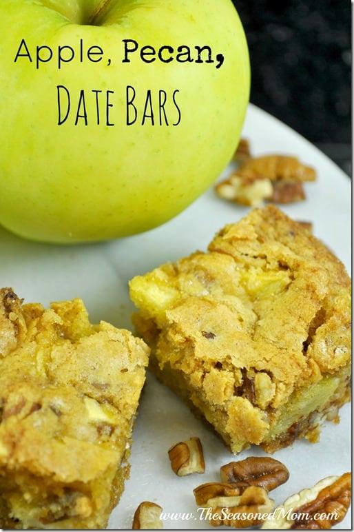 Apple, Pecan, Date Bars
