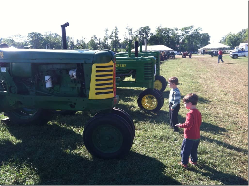 Boys with Tractors