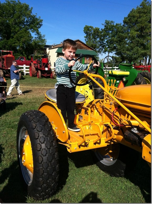 Gibbs on Tractor