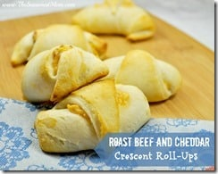Roast Beef and Cheddar Crescent Roll-Ups