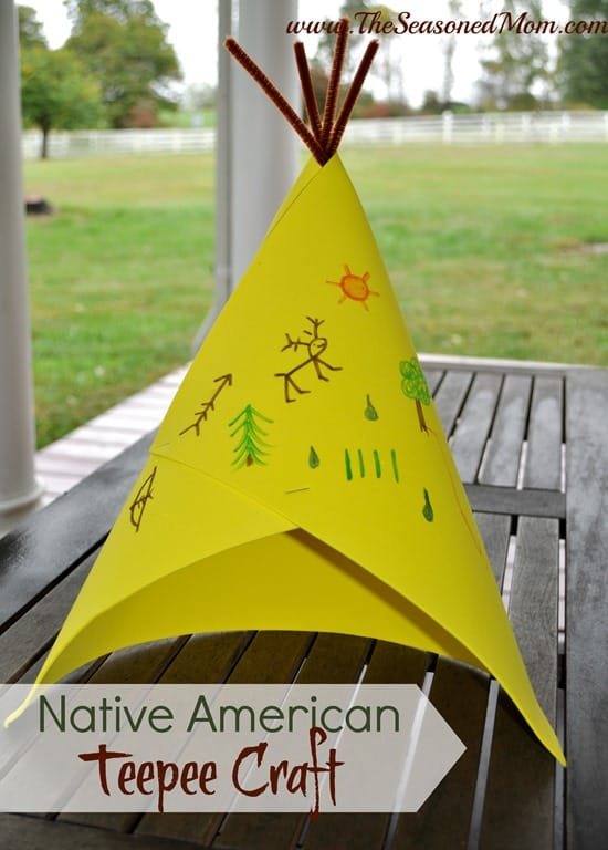 Native American Crafts For Toddlers Native American Teepee Craft