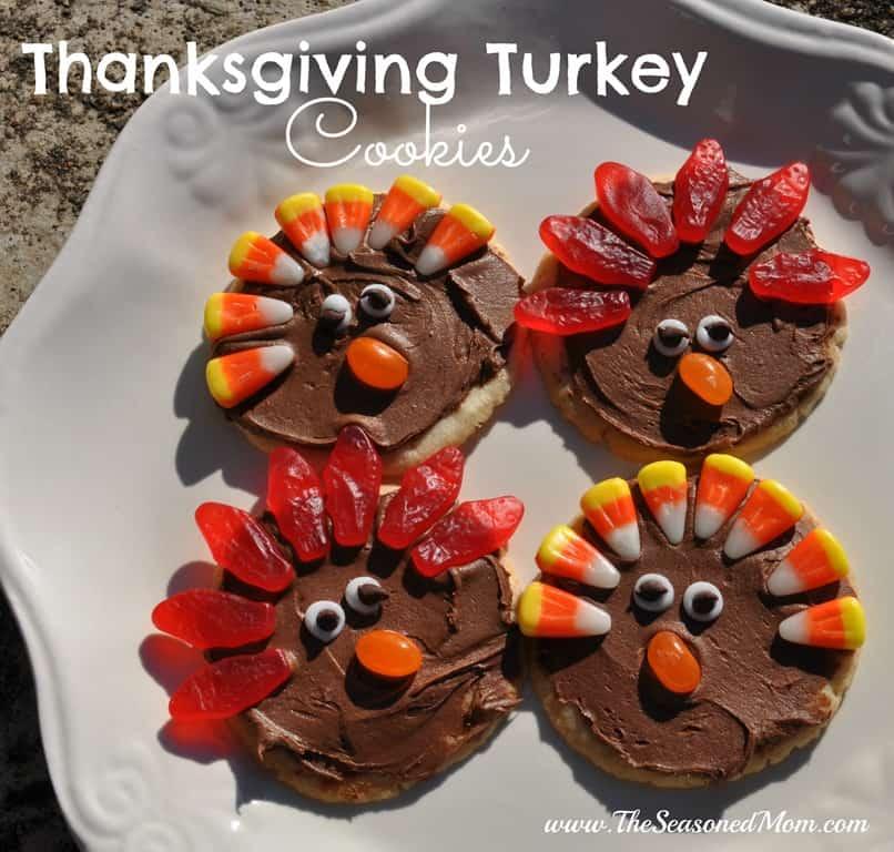 Thanksgiving Cookie Crafts: Thanksgiving Turkey Cookies