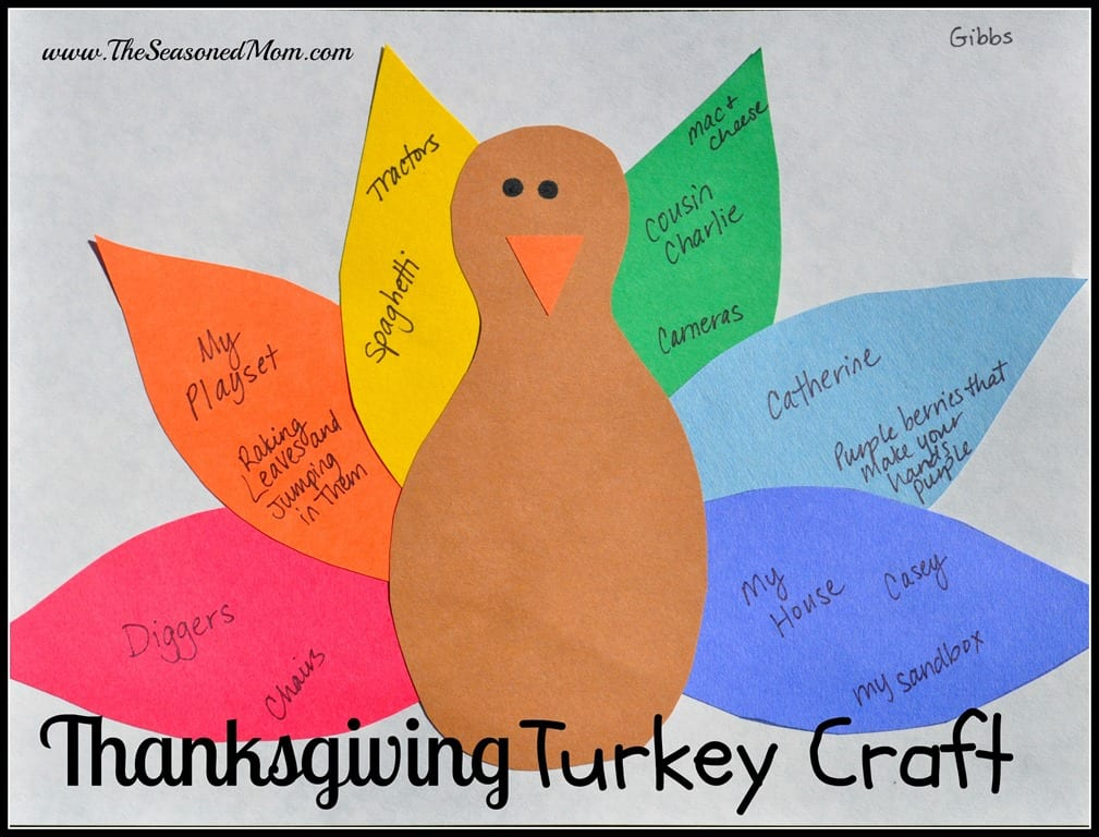 Thanksgiving turkey craft the seasoned mom for Thanksgiving turkey arts and crafts