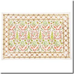 aviary coral placemats