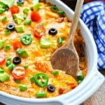 Easy Taco Casserole Recipe to use up leftover chicken or leftover turkey