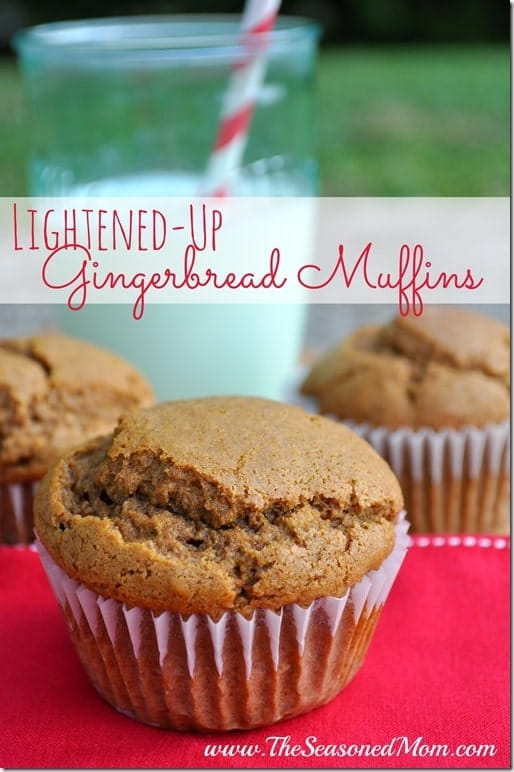 Lightened Up Gingerbread Muffins