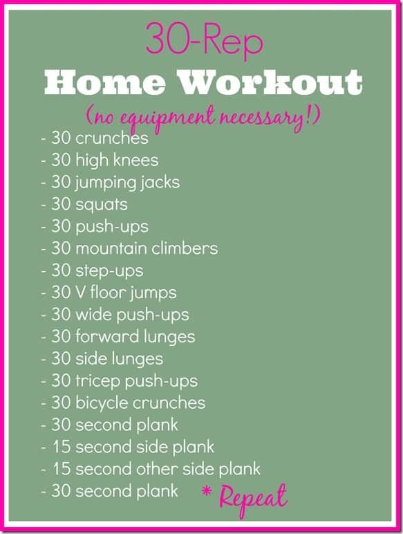 30 Rep Home Workout