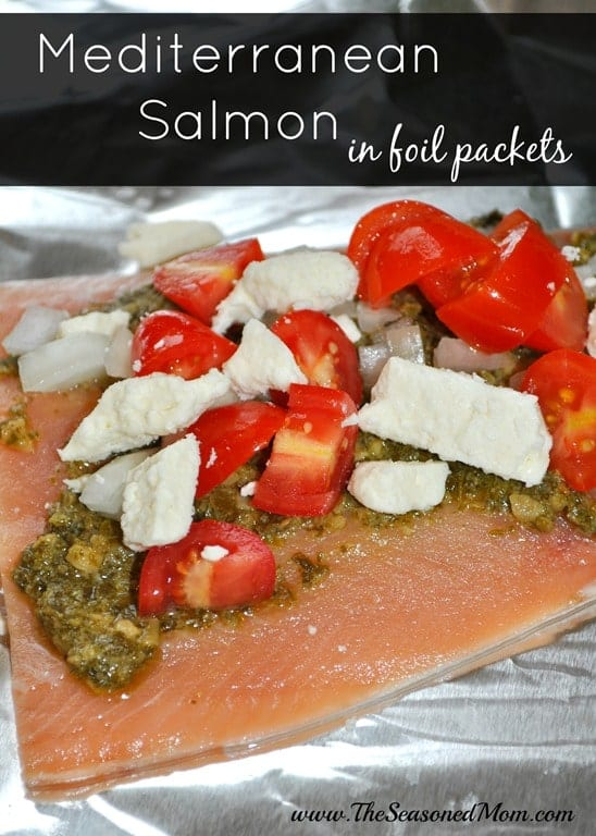 Mediterranean Salmon in Foil Packets