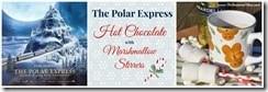 Polar Express Hot Chocolate with Marshmallow Stirrers