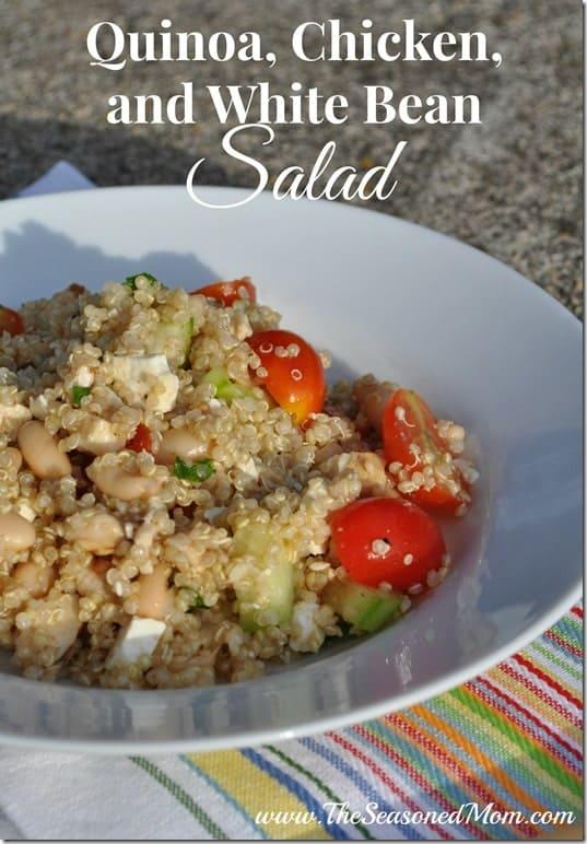 Quinoa Chicken and White Bean Salad