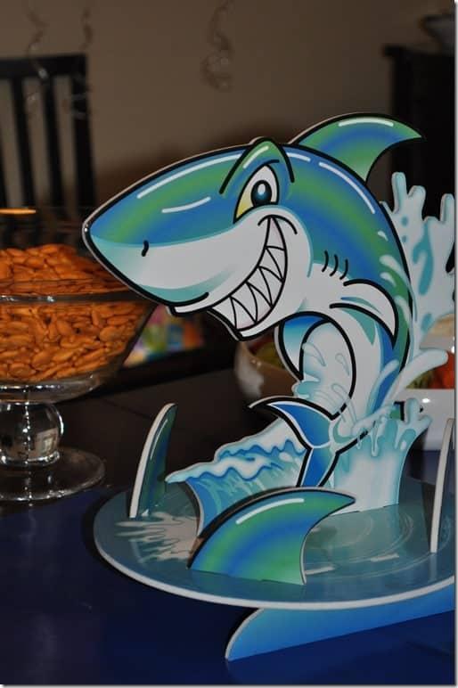 a shark-themed birthday party