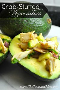 Crab Stuffed Avocadoes
