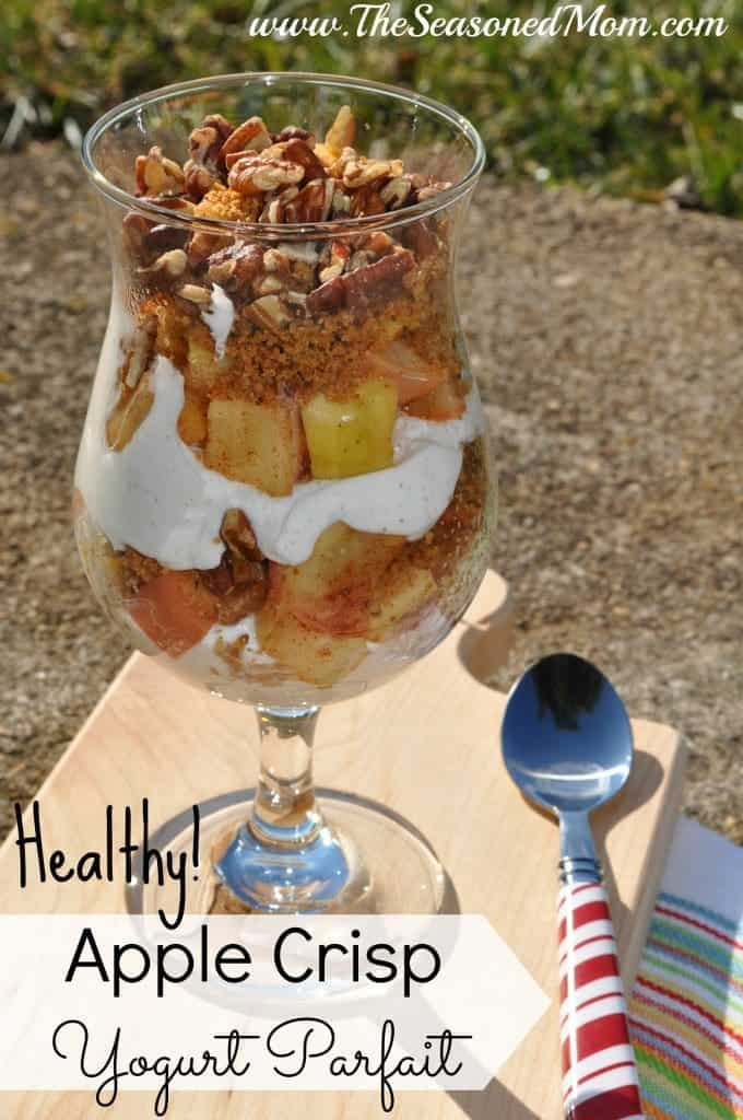 Healthy Apple Crisp Yogurt Parfaits