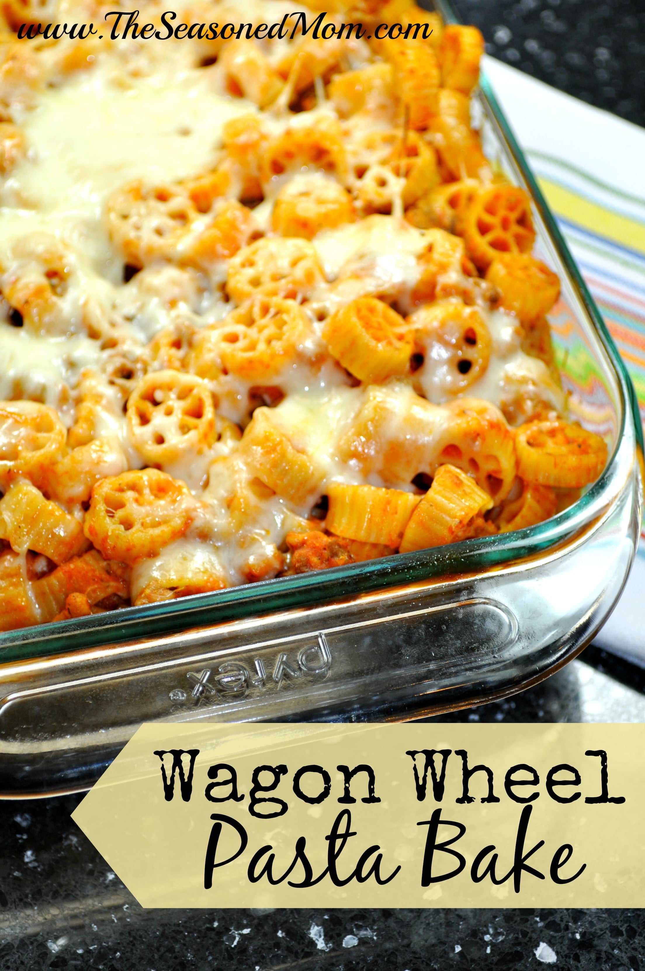Wagon wheels pasta recipe