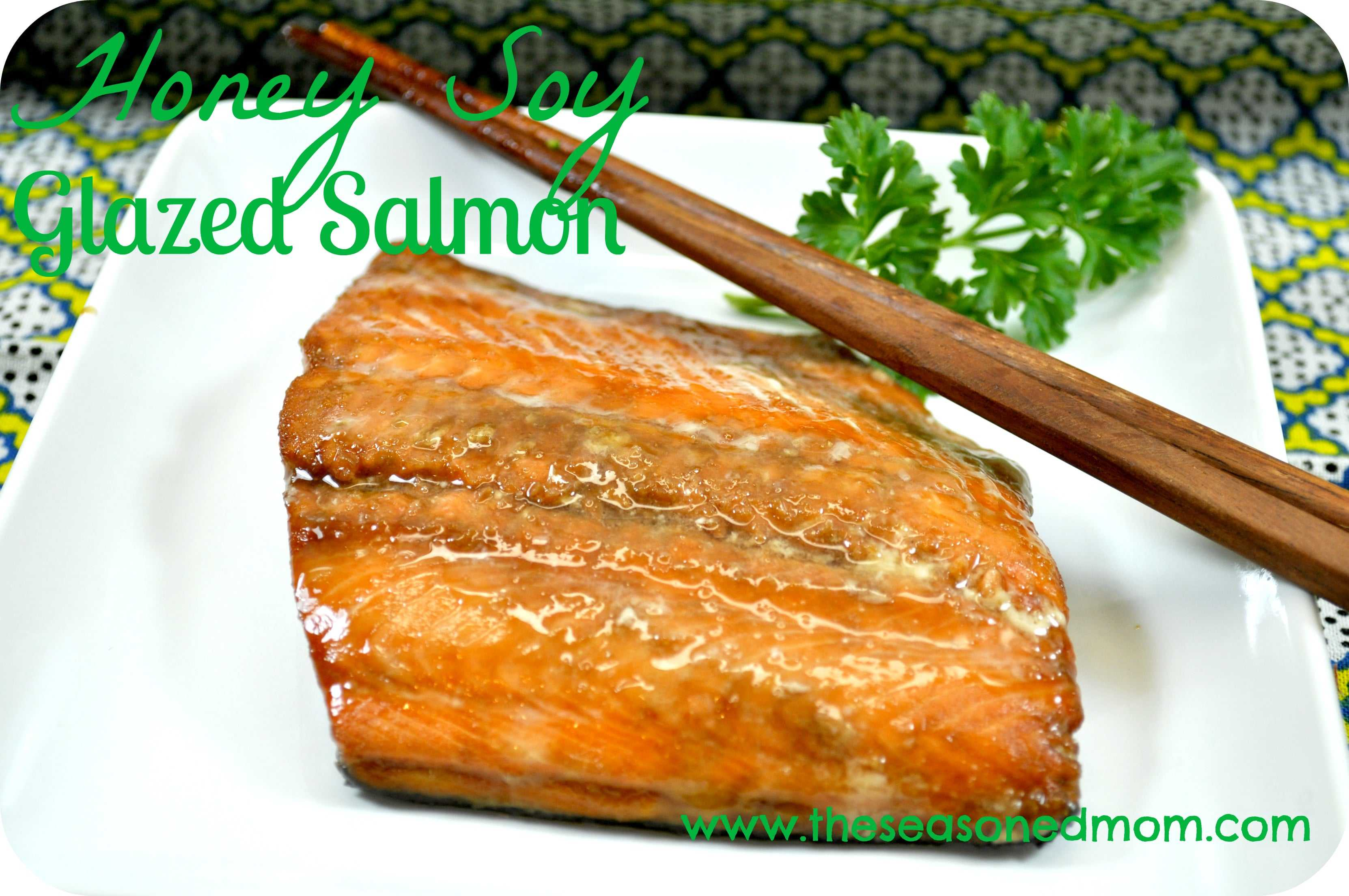 Honey Soy Glazed Salmon (serve with Veggie Lo Mein )