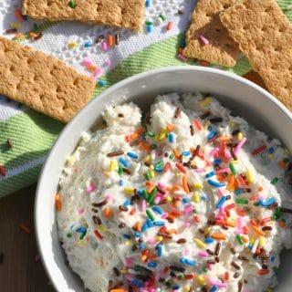 Lightened-Up Funfetti Cake Batter Dip + Family Movie Night