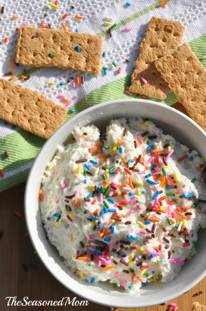 Lightened-Up Funfetti Cake Batter Dip + Family Movie Night