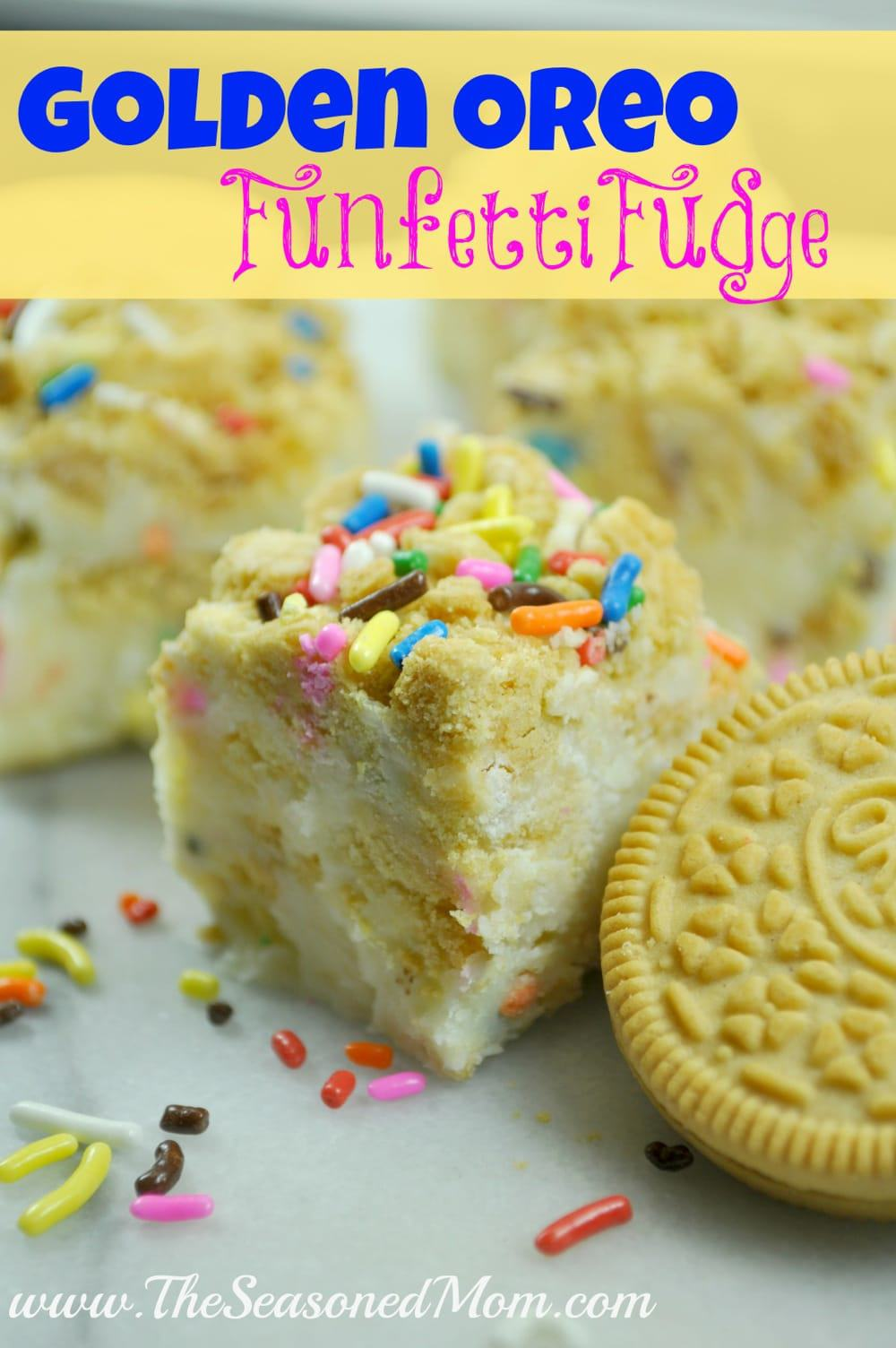 Cooking with Kids Series Golden Oreo Funfetti Fudge The