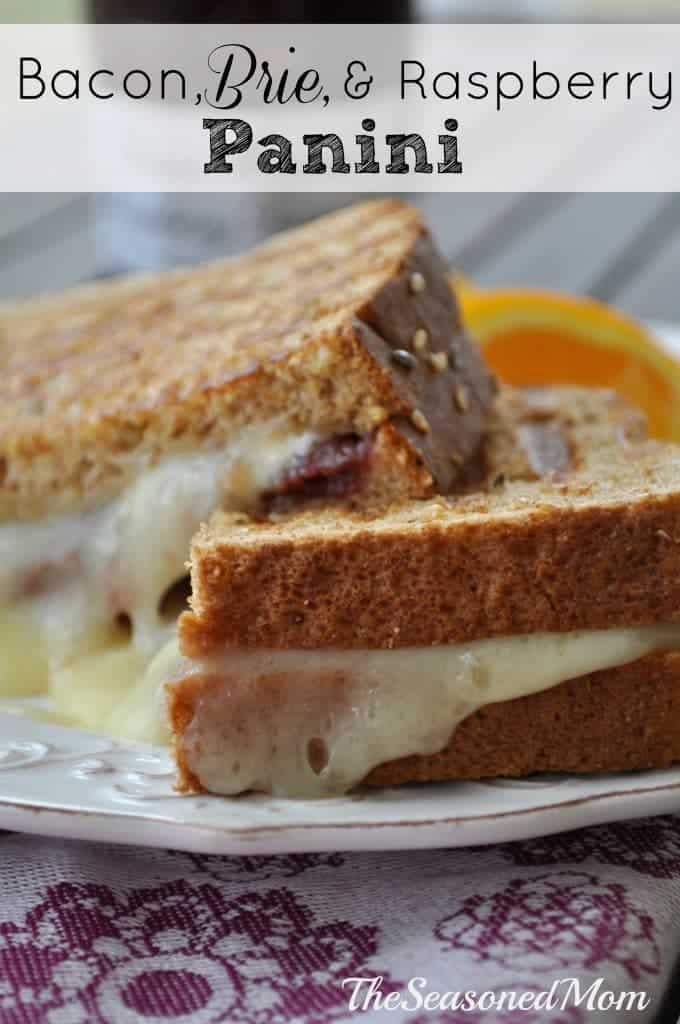 Bacon Brie and Raspberry Panini