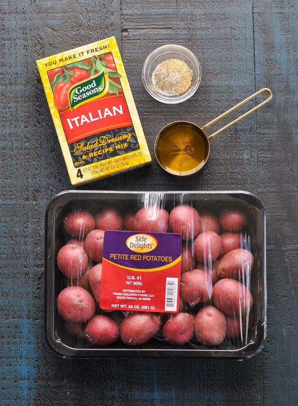 Ingredients for oven roasted red potatoes