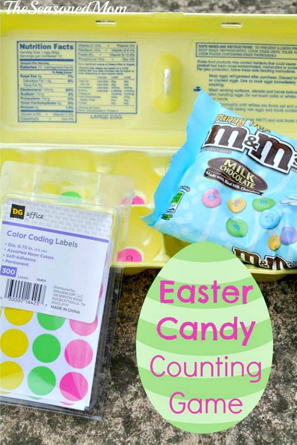Easter Candy Counting Activity for Kids image with text overlay