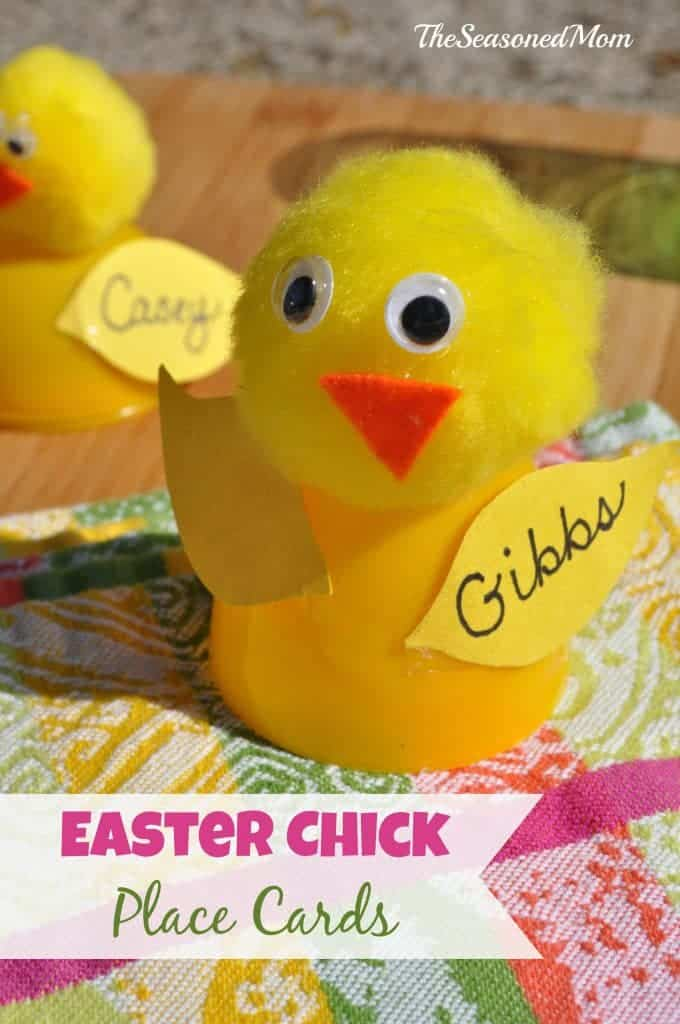 Easter Chick Place Cards