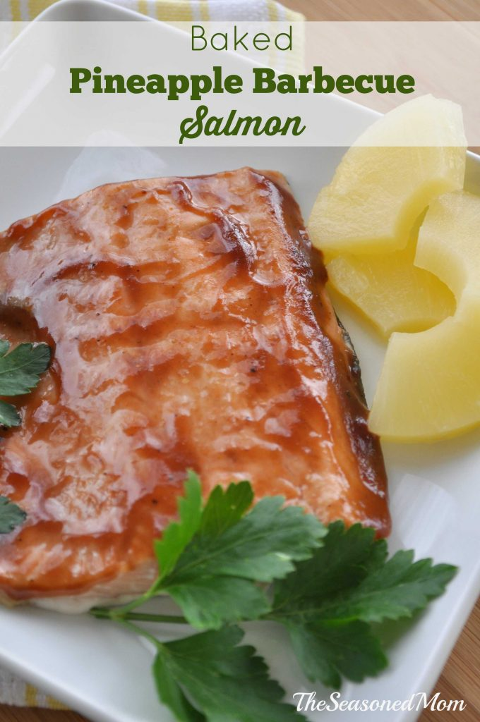 Baked Pineapple Barbecue Salmon