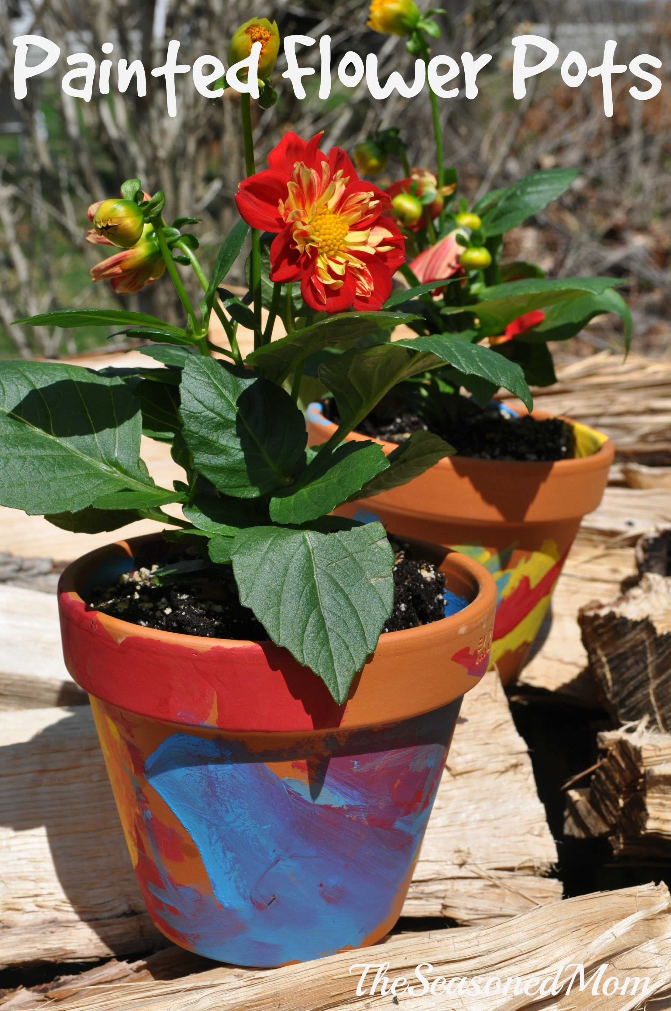 homemade mother 39 s day gift painted flower pots the. Black Bedroom Furniture Sets. Home Design Ideas