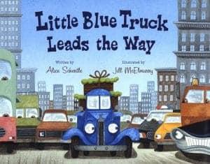 little blue truck leads