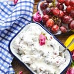 Just 3 ingredients for this easy Grape Salad that's healthy and fresh!