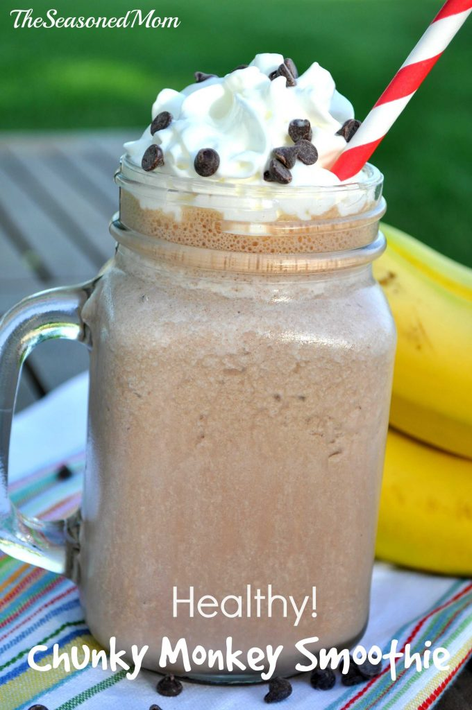 Healthy Breakfast Smoothie: Chunky Monkey!