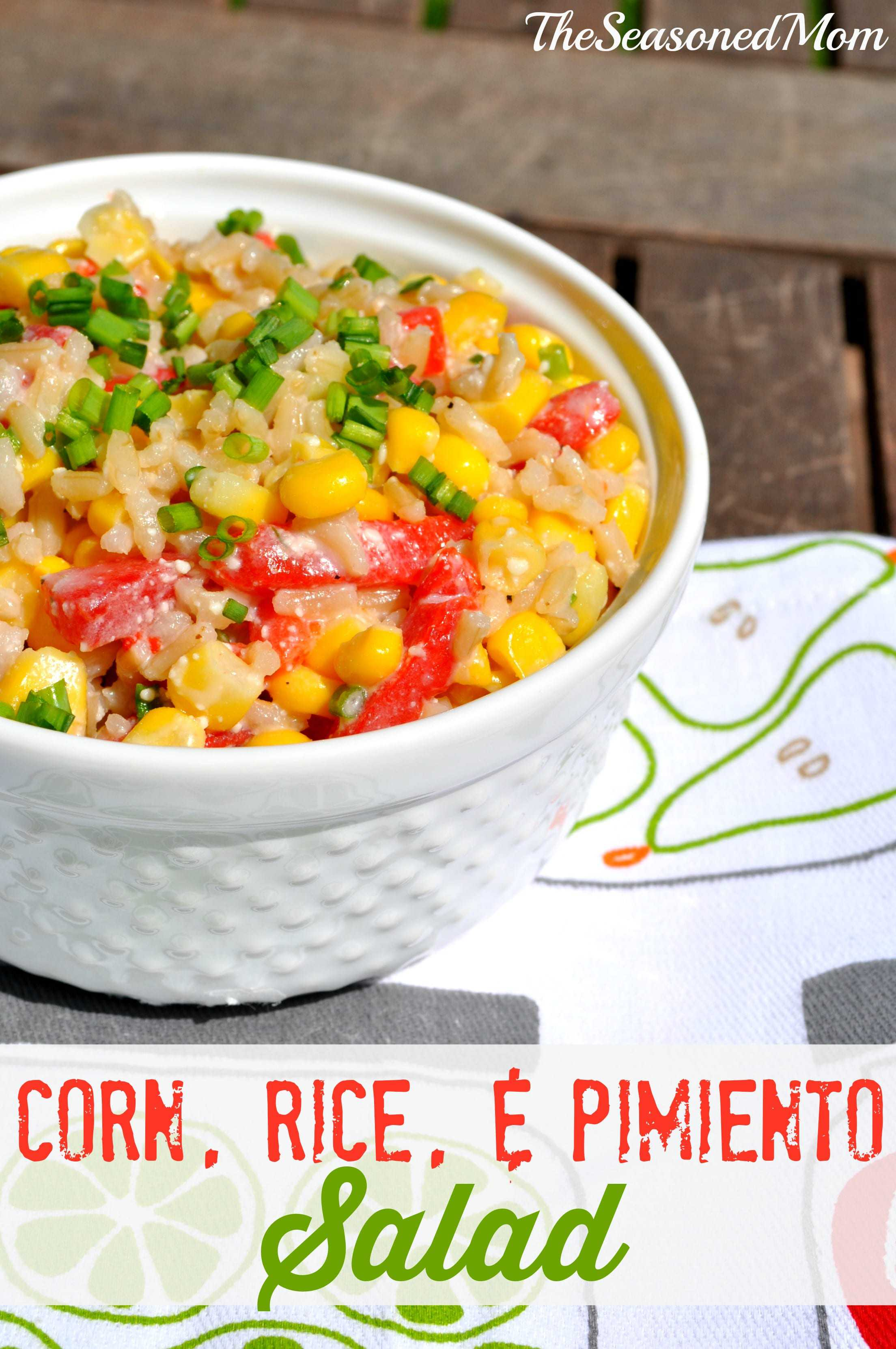 Corn Rice and Pimiento Salad