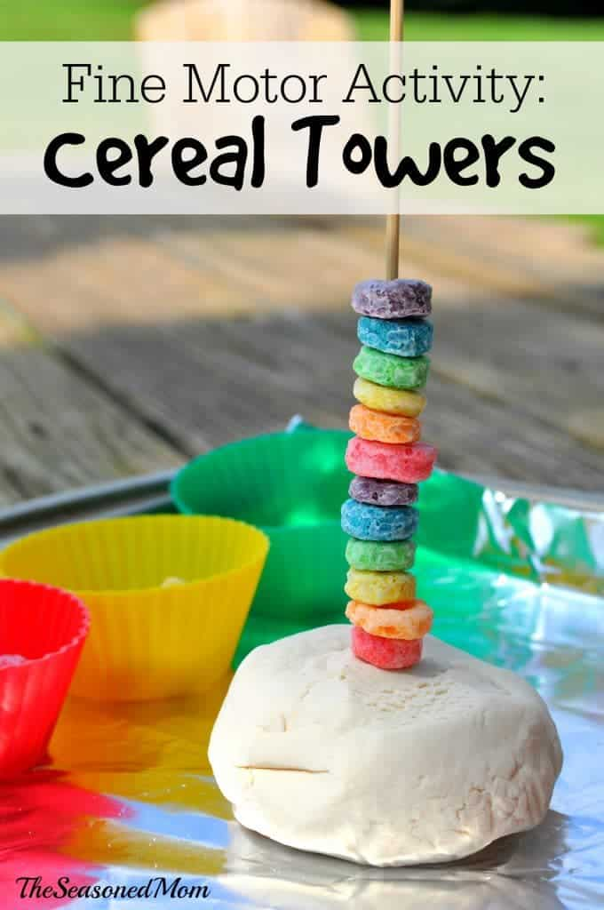 Fine Motor Activity: Cereal Towers