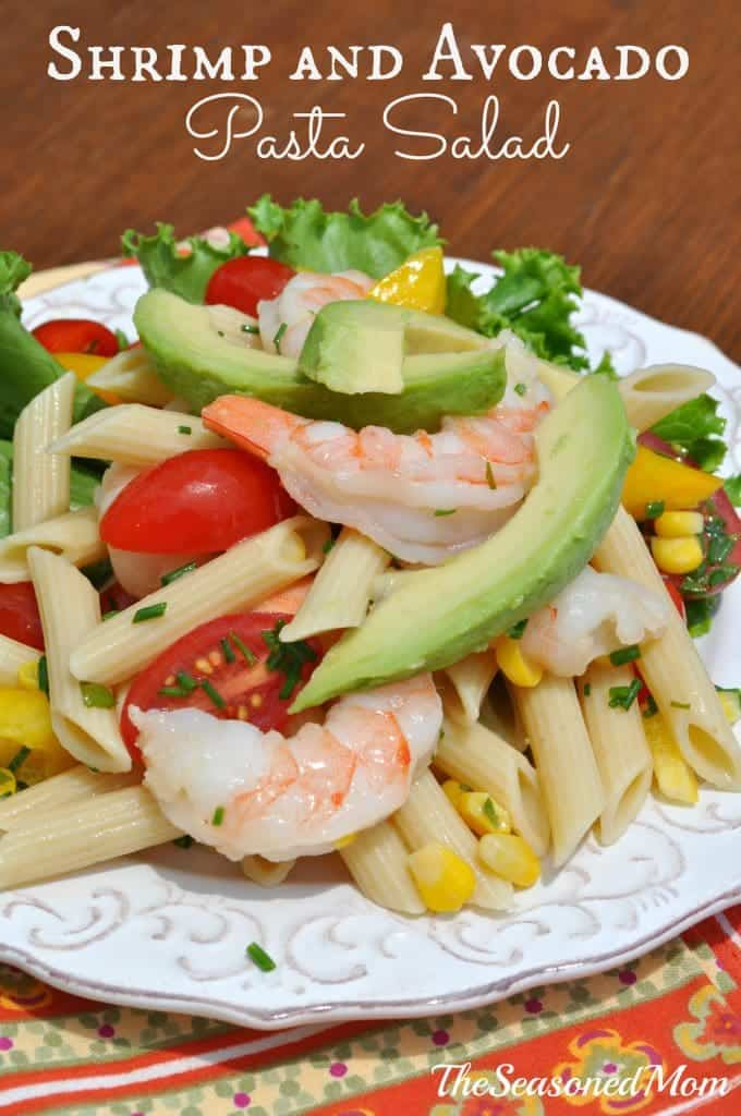 This Shrimp and Avocado Pasta Salad is simple, healthy, and incredibly ...