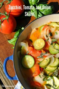 Zucchini Tomato and Onion Skillet