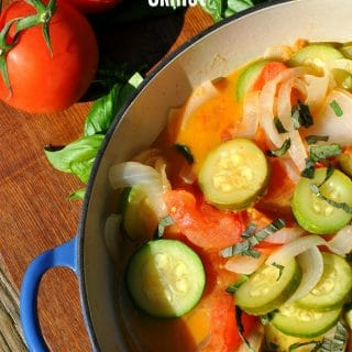 Zucchini, Tomato, and Onion Skillet